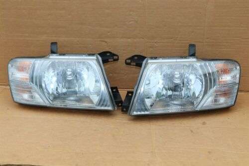 03-06 Mitsubishi Montero Limited Headlight Head Light Lamps Set L&R - POLISHED