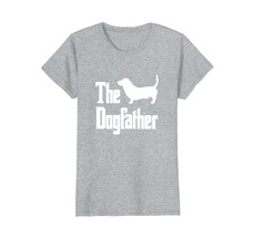 The Dogfather t-shirt Basset Hound silhouette funny dog - $19.99+