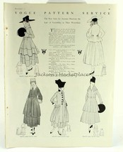 Vogue Pattern Illustrations with Numbers, 1915 Magazine, #2 - $12.99