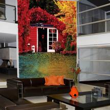 3D Wald - Hütte 267434 Fototapeten Wandbild Fototapete BildTapete Familie DE - $52.21+
