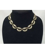 """Vintage MONET Gold Tone Collar Link Necklace SIGNED 18"""" Lovely Costume J... - $7.72"""