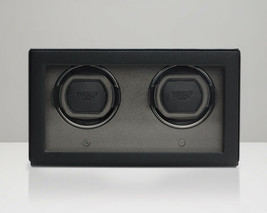 WOLF 1.8 Double Cub Watch Winder with Cover Black 461203 Free US Shipping - $450.00