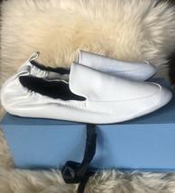 NIB LANVIN Paris 39.5 US 9.5 White Slipper Smocking shoes Mocassins  $595 - $310.00