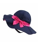 Kid Baby Sun Hat Toddler UPF 50+ Sun Protective Wide Brim Bucket Hat Bow... - $20.02 CAD