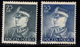 1937 Marshal Edward Rydz-Smigły Set of 2 Poland Stamps Catalog Number 312-13 MNH