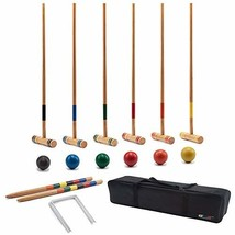 GSE Games & Sports Expert Premium 6-Player Croquet Set for Adults & Kids... - $72.33