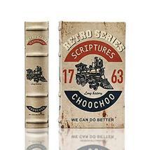 MilmaArtGift Retro Design Decorative Book Box Train Leather Secret Storage Book  - $24.74