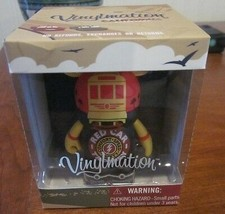 WDW DISNEY MICKEY VINYLMATION CALIFORNIA ADVENTURE RED CAR TROLLEY BRAND... - $19.99