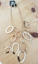 792 GOLD W/ DANGLING GOLD HOOPS SET (new) - $7.61