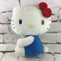 Hello Kitty By Sanrio Plush Side Sitting Blue Outfit Red Bow Stuffed Ani... - $19.79