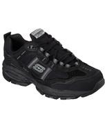 51241 EW Wide Width Black Skechers shoes Men's Memory Foam Sport Comfort... - $39.87