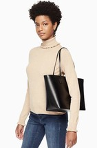 Kate Spade Sm Harmony Smooth Black Leather Tote ONLY Bennet Place WKRU4766 - $117.99