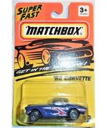 1995 Matchbox Super Fast '62 Corvette Collector #32 Mint On Sealed Card - $4.00