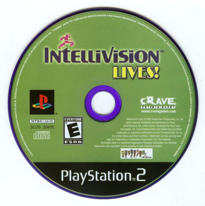 Intellivision Lives! (PlayStation 2, PS2)(SLUS-20830) Complete with Instructions
