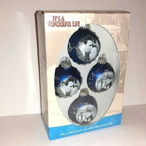 It's a Wonderful Life Enesco Collector's Blue Ornament Set of 4 George & Mary - $49.50