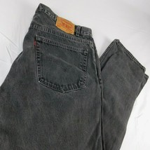 VTG Levi's 505 Black Denim Jeans Reg Fit Straight Leg W 40 L 32 USA - $39.99