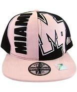 Miami Adult Size Snapback Baseball Cap (Pink/Black) - $13.95