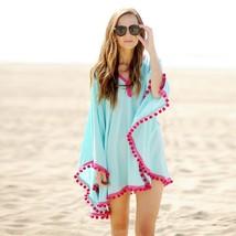Sexy Cotton Bathing Suit Cover ups Summer Beach Dress Tassel Trim Bikini... - $13.80