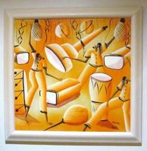 "Original Haitian Acrylic Vibrant Painting ""Untitled"" Paulna - $299.99"