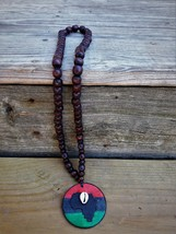Round Africa Medallion Necklace with Cowrie Shell - $20.00