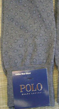 Polo Ralph Lauren Blue Label Men's Gray 10-13 Socks Wool Blend Made In Japan New - $94.75