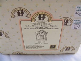 """Enesco Memories Of Yesterday """"For Fido And Me"""" #522457 Musical Figurine IN BOX - $36.62"""