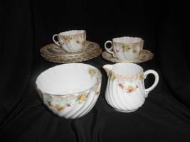 Paragon Trio Set Of 2 Creamer & Open Sugar Bowl Antique China 1903 Pink Rose  - $142.50