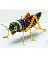 Kubla Cloisonne Grasshopper Ornament. Superb!! - $19.95