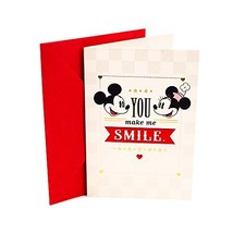 """Hallmark Love Greeting Card (Mickey Mouse & Minnie Mouse Love)5"""" wide 7.... - $5.60"""