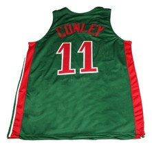Mike Conley #11 Lawrence North New Men Basketball Jersey Green Any Size image 2