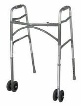 """Bariatric Steel Folding Walker, 5"""" Wheels, Heavy Duty Adult Walker, Adju... - $114.79"""