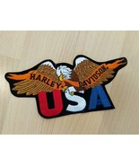 "Harley Davidson Motorcycle USA Eagle HD Logo Patch 6"" x 3"" New Unused - $14.85"