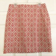 NWT Ann Taylor Career Work Pencil Skirt Diamond Geometric Print Sz 10P M... - $15.87