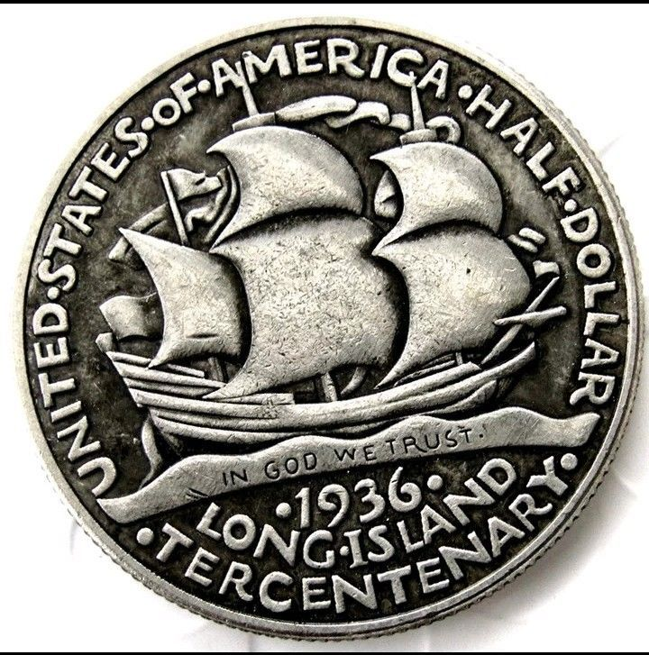 Primary image for 1936 Long Island New York Half Dollar Commemorative Casted Coin