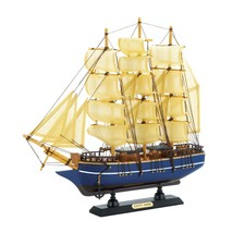 CUTTY SARK SHIP Model Wooden Boat - Fully Assembled Nautical Decor - $28.30