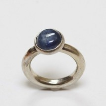 Sundance Catalog $158 Kyanite Cabochon Sterling Silver Ring Classic Blue... - $97.99
