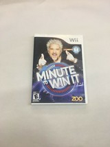 Minute to win it (nintendo wii, 2010) manual case and game tested - $8.42