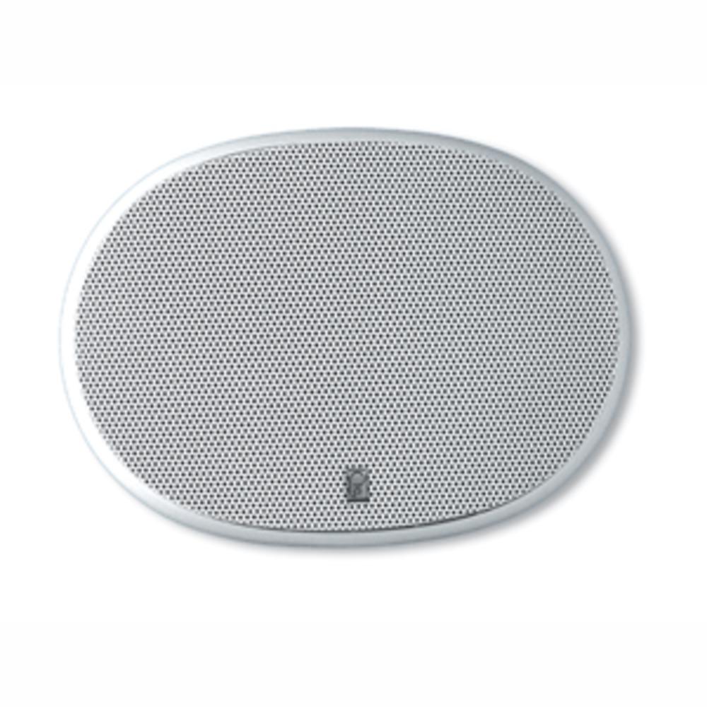 Poly-Planar 6 x 9 3-Way Platinum Oval Marine Speaker - (Pair) White