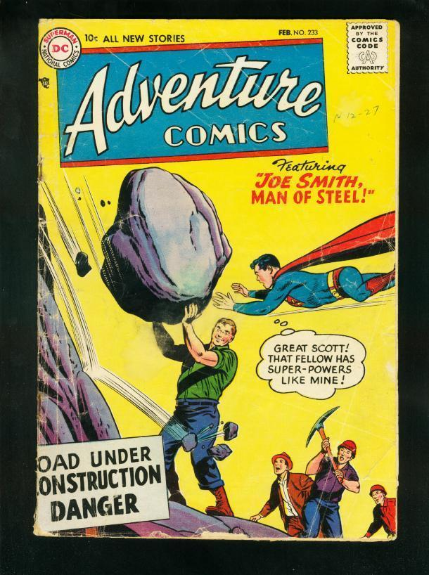 ADVENTURE COMICS #233 1957-SUPERBOY-GREEN ARROW-AQUAMAN-low grade copy FR