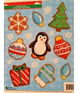 Static Window Clings Christmas Gingerbread Cookies New - $8.86