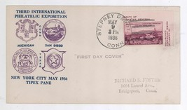 1936 California Pacific TIPEX Scott #778b First Day Cover! Stepney Depot... - $4.94