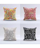 Paisley Geometric Cushion Pillow Bohemia India Abstract Flower Pillow Ca... - $15.99