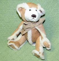 """Bath & Body Works Gingerbread Teddy Stuffed Animal 6"""" Sitting Plush Suede Suit - $20.79"""