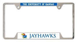 Kansas Jayhawks Heavy Duty Chrome Metal License Plate Frame - $13.95