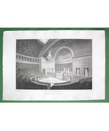FRANCE Paris Interior of Chamber of Deputies - CPT. BATTY  Engraving Print - $9.57