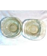 """2 Vintage Amber Madrid Depression Glass Dessert Bowls 5"""" W Federal - $19.99"""
