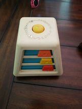 Fisher Price 1978 TURN & LEARN SPINNING BUSY BOX CUBE Baby VINTAGE Toy image 4