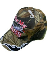 Kiss My Bass All Camo Baseball Hat Adjustable New - £9.07 GBP