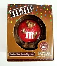 2005 Boyds Bears M&M's Red Peeker Bear Resin Figurine Style #228467MM NEW In Box - $14.99