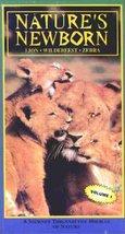 Nature's Newborn: Lion. Wildebeest. Zebra [VHS] [VHS Tape]